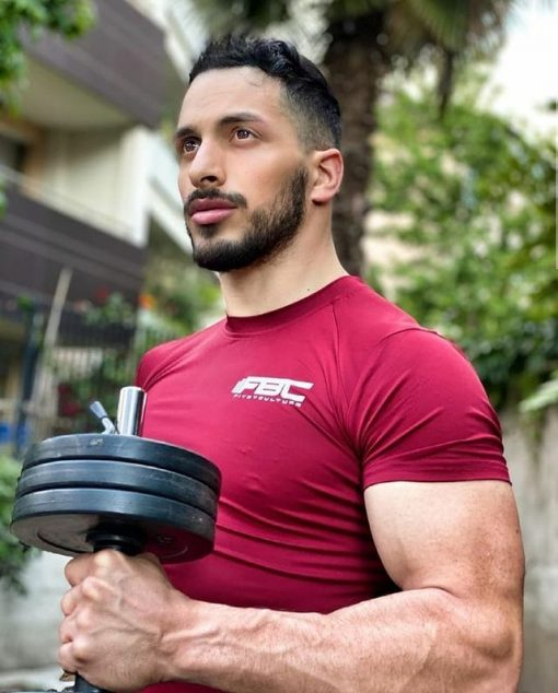 Men FBC Slim Compression Fitness Shirts