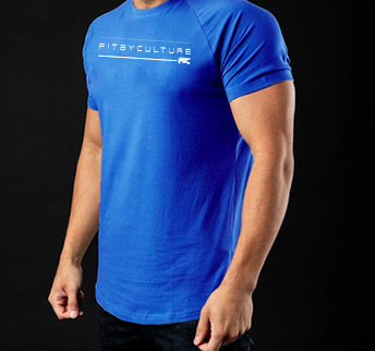 Caged Fogo Fitness Tee blue