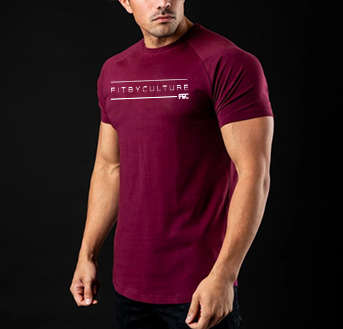 Caged Fogo Fitness Tee red