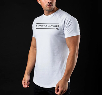 Caged Fogo Fitness Tee white