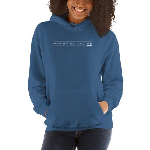 unisex heavy blend hoodie indigo blue