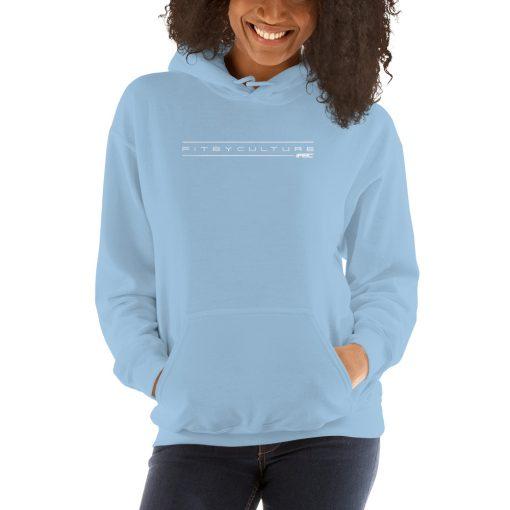 unisex heavy blend hoodie light blue