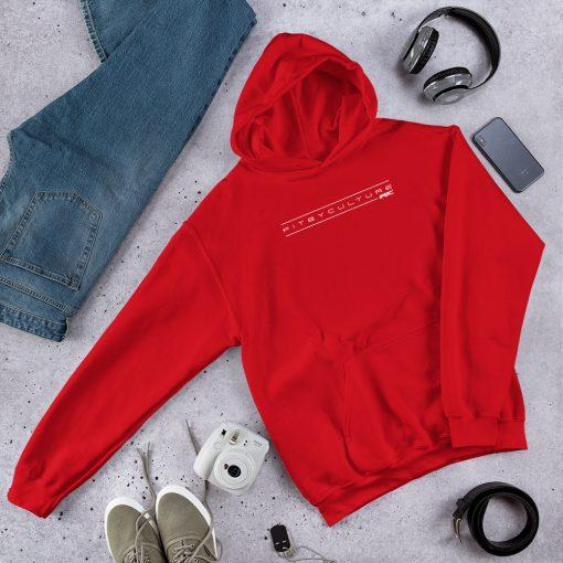 unisex heavy blend hoodie red