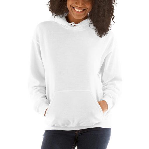 unisex heavy blend hoodie white
